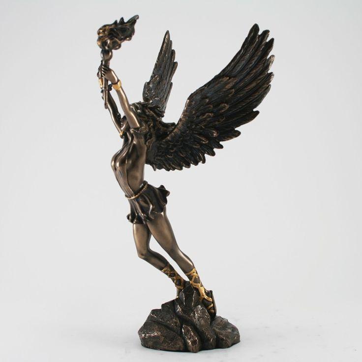 deko skulptur nike siegesg ttin bronziert figuren skulpturen mythologie deko. Black Bedroom Furniture Sets. Home Design Ideas