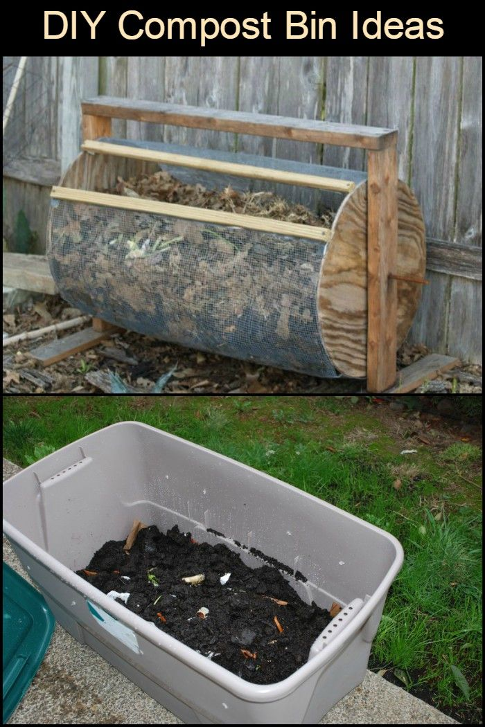 Diy Compost Bin Ideas Compost Making A Compost Bin Planting