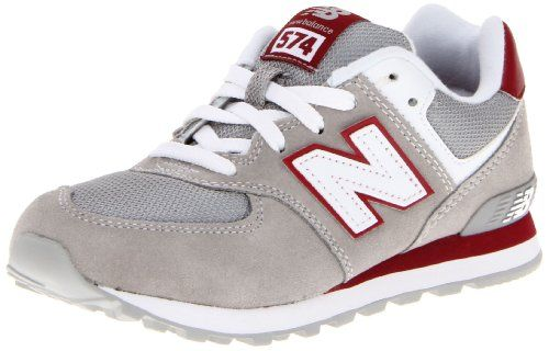 New Balance KL574 Pre Running Shoe (Little Kid),Grey/Red,1 M US Little Kid at http://suliaszone.com/new-balance-kl574-pre-running-shoe-little-kidgreyred1-m-us-little-kid/