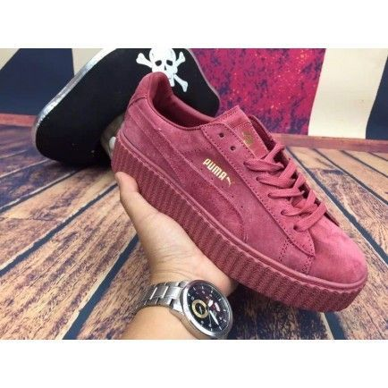 Puma Rihanna X Suede Creepers Casual Shoes All Red | creepers