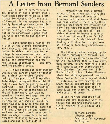 Bernie Sanders Was for Full Gay Equality 40 Years Ago   Alternet