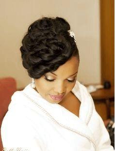Nigerian Stylist Wedding Updo