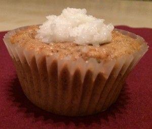 vegane Carrot-Cake Muffin mit Kokos-Frosting