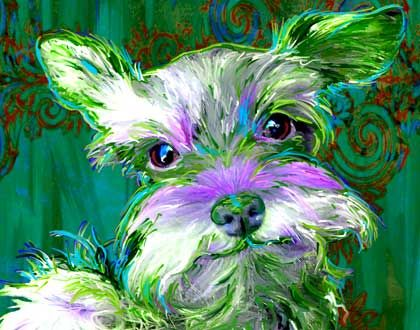 Miniature Schnauzer Dog Art | Art Dog Blog