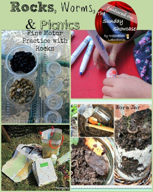rocks, worms, and picnics.