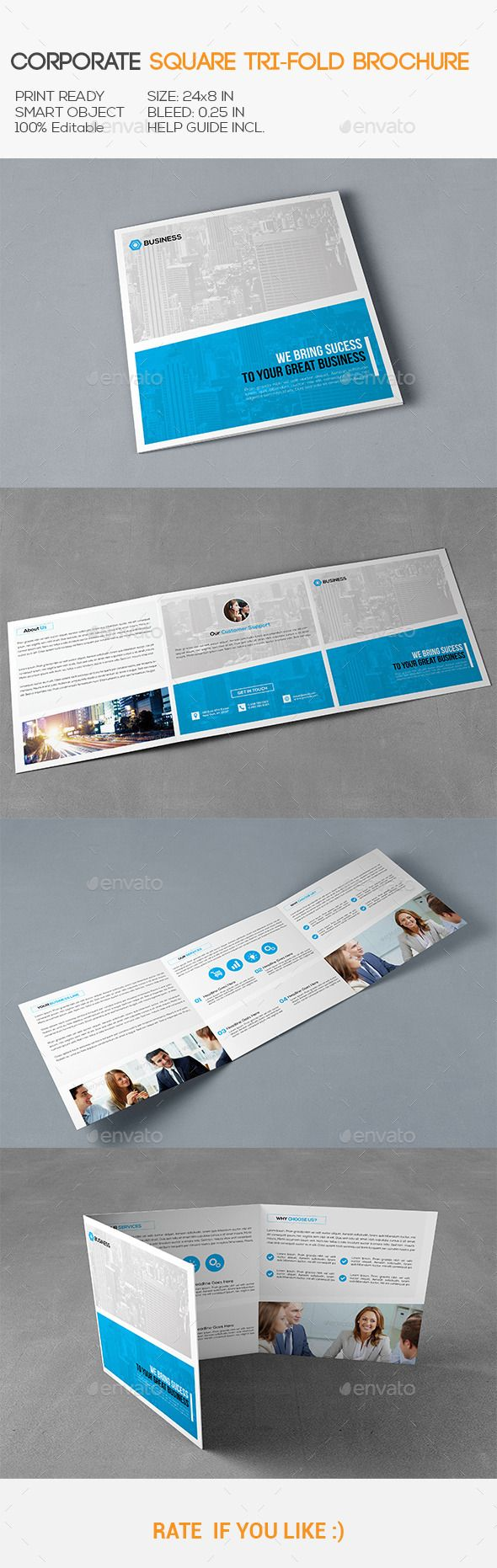 Square Corporate Trifold Brochure Design Template. Download: http://graphicriver.net/item/square-corporate-trifold-brochure/11357382?ref=ksioks