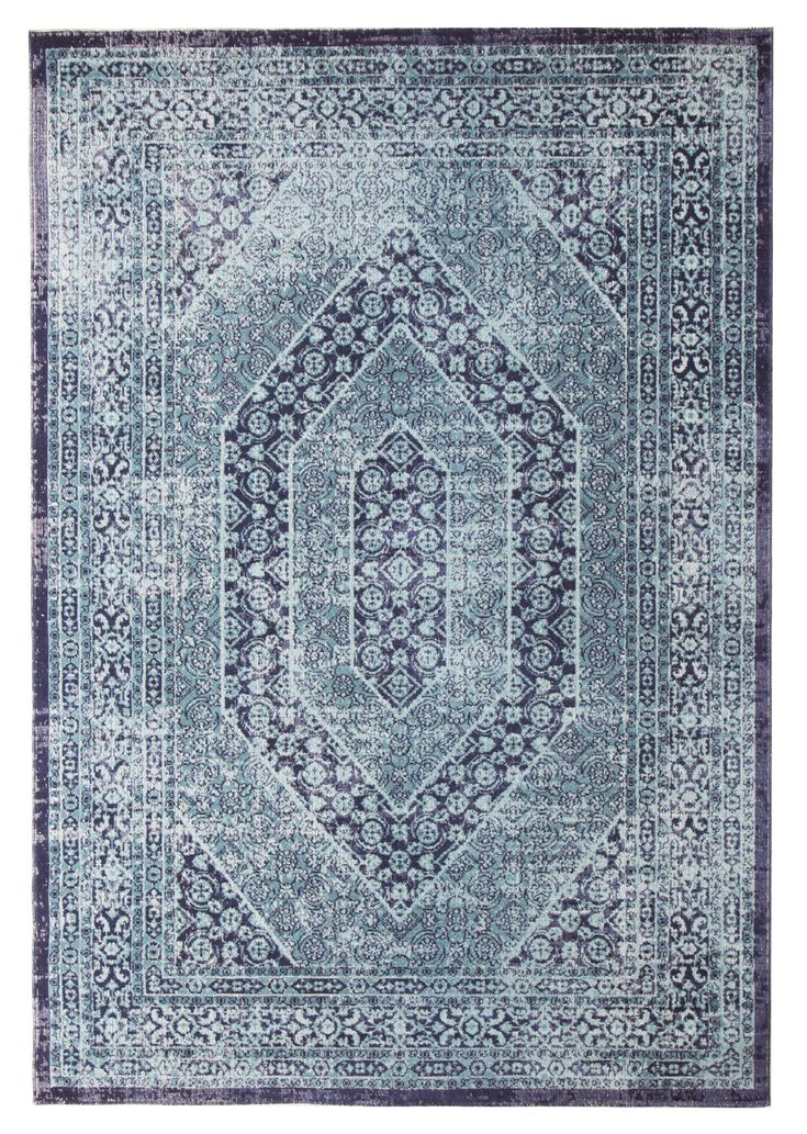 Blue Power Loomed Distressed Modern Rug by Network Rugs. Get it now or find more All Rugs at Temple & Webster.
