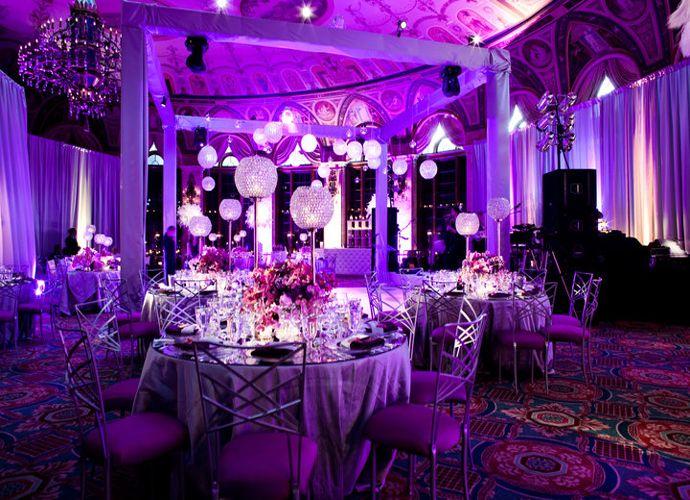 purple wedding reception decorations - Wedding Decor Ideas