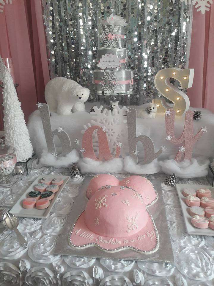 A Snowflake Is On The Way Baby Shower Party Ideas Winter Party