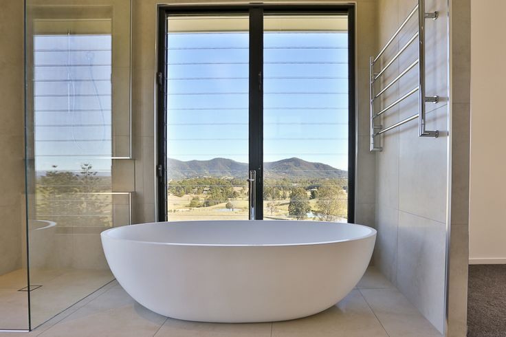 (c) Photo Sarah Whyte Photography   Main Bedroom Ensuite with Apaiser Stone Freestanding Bath