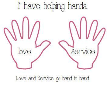 "serve god Coloring Pages | Love and Service Go Hand and Hand"" (above: click here - Acitivity ...:"