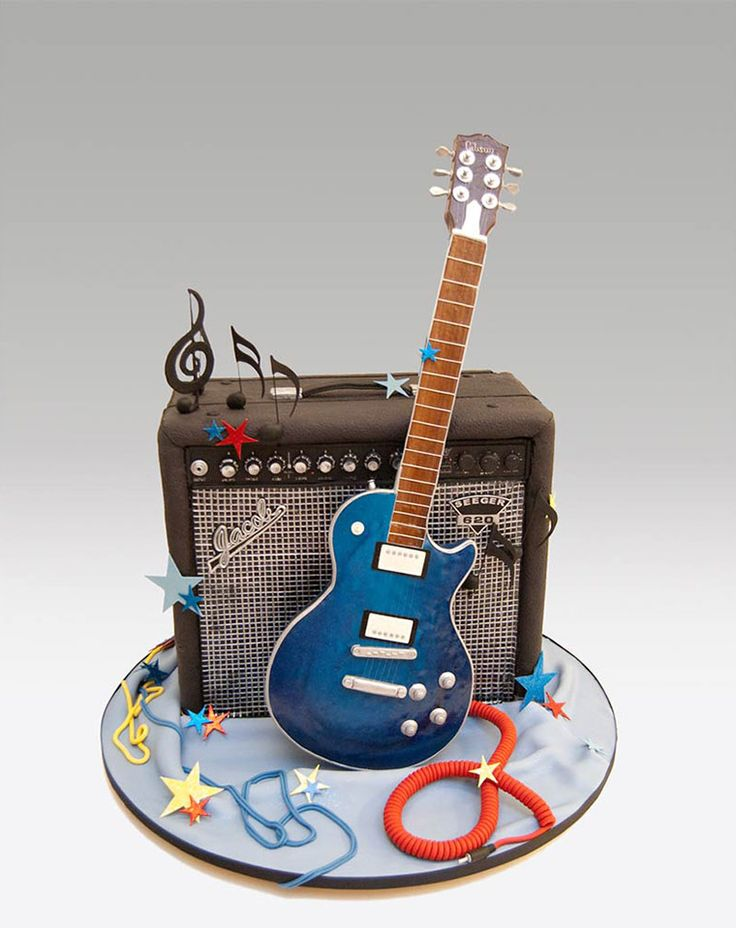 18 best Cake ideas Mark images on Pinterest Guitar cake Cakes