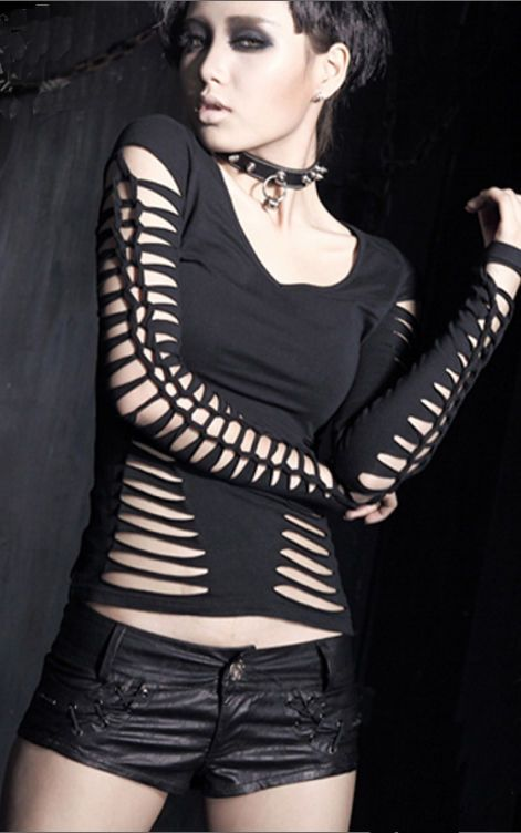 NEW Punk Rave Gothic Rock T-shirt Top Blouse T-294 ALL STOCK IN AUSTRALIA