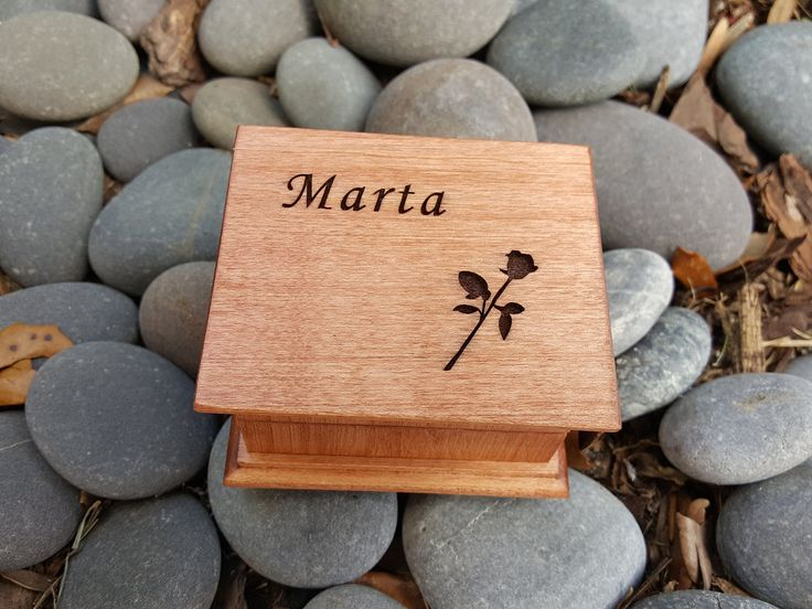 Custom engraved wooden music box with a rose on the top and a name, Beauty and the Beast theme gift, with the song Tale as old as time, great gift for your princess