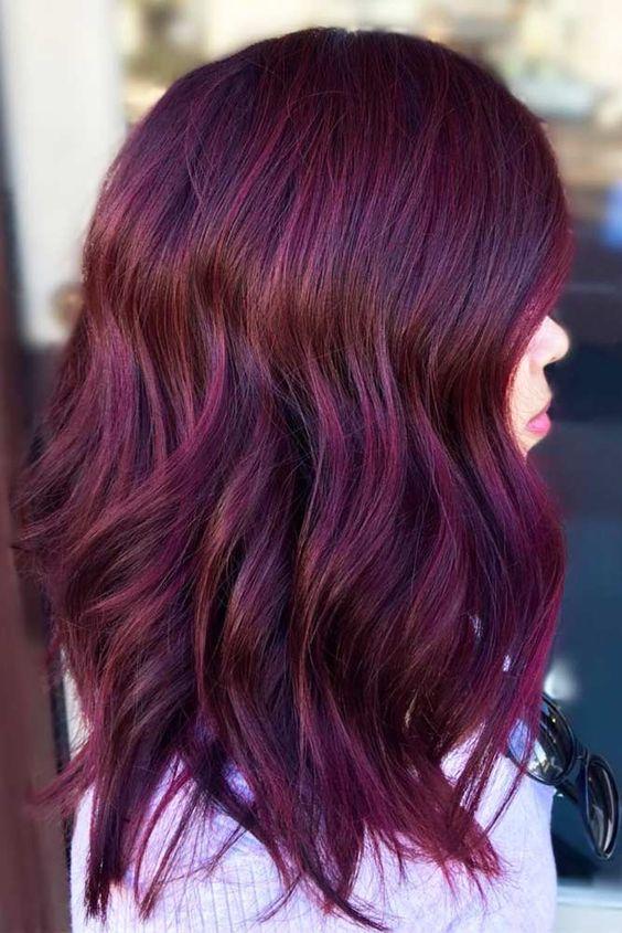 couleurs de cheveux Tendance 2018 Red hair color, Dark