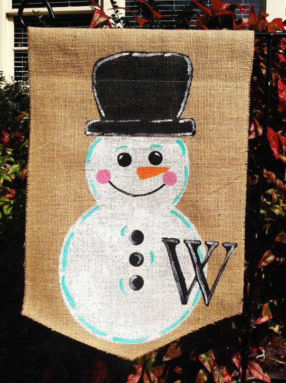 Burlap Door Hanger Christmas Holiday Ornament by ModernRusticGirl