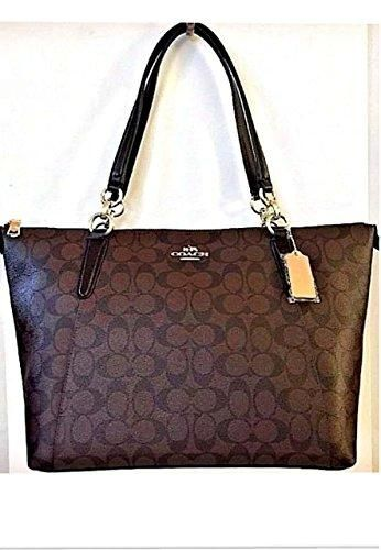 c7b0a0317 Coach Ava Tote in Signature Brown/Black/Gold F58318 in 2019 ...
