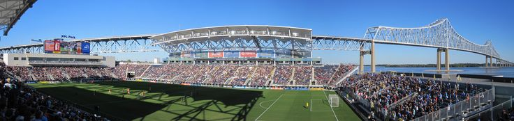 Talen Energy Stadium with the Commodore Barry Bridge behind it[9227  2183]
