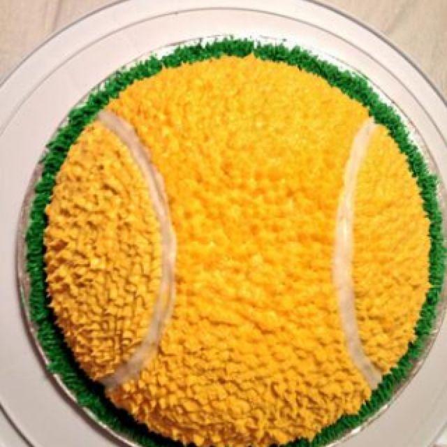 My tennis birthday cake!