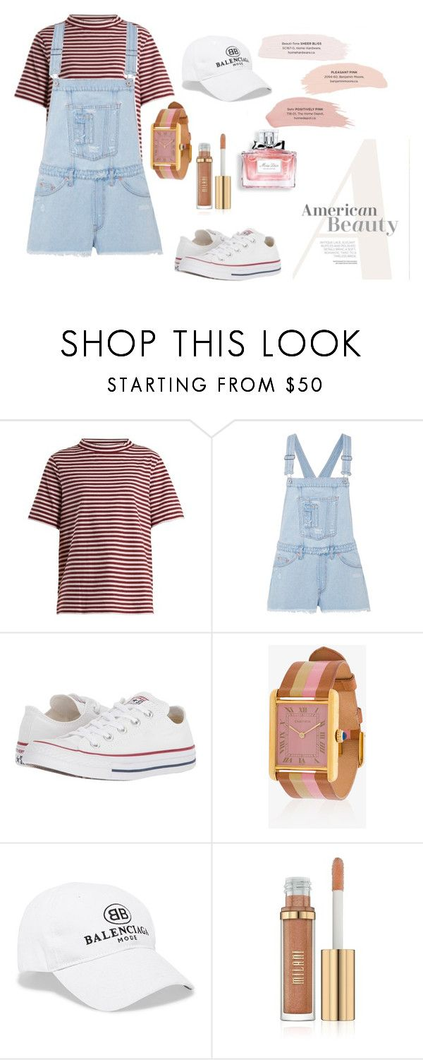 """Casual"" by pitaa29 on Polyvore featuring M.i.h Jeans, Off-White, Converse, laCalifornienne, Balenciaga and Christian Dior"