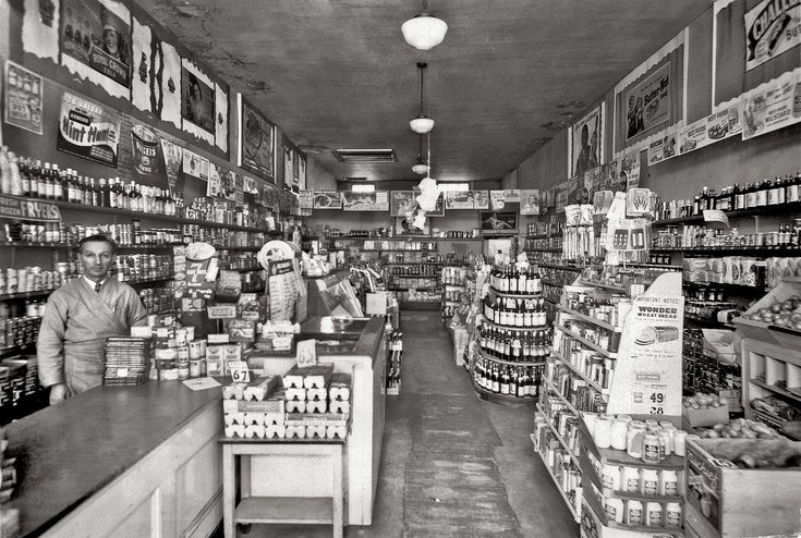 Shorpy Historical Photo Archive :: When the Grocery Looked Like That: 1944 San Francisco The De Luxe Groceteria.