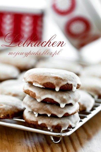 baking lebkuchen - traditional German gingerbread cookies