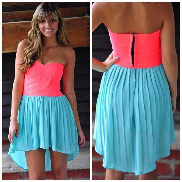 Really pretty Pink and blue dress