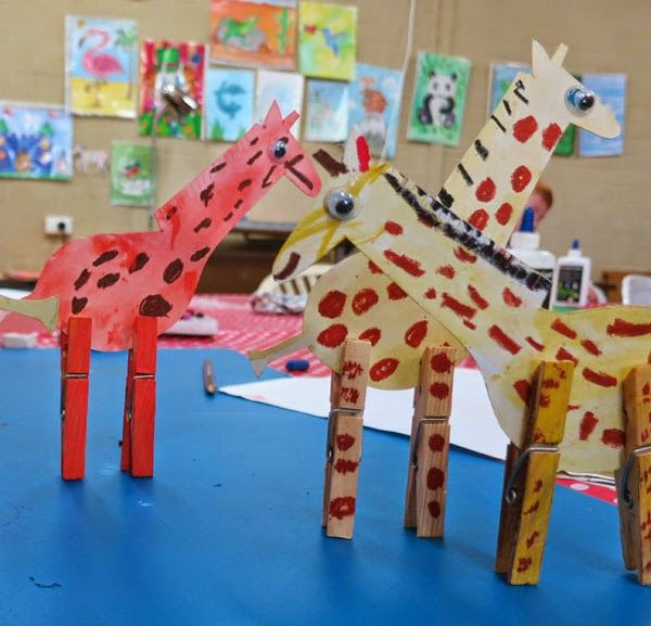 Giraffes with peg legs :)