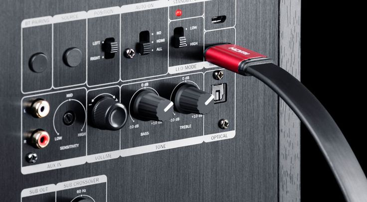 Als ersten aktiven Stand-Lautsprecher mit HDMI-Schnittstelle rühmt Lautsprecher Teufel GmbH die neue Teufel Ultima 40 Aktiv.