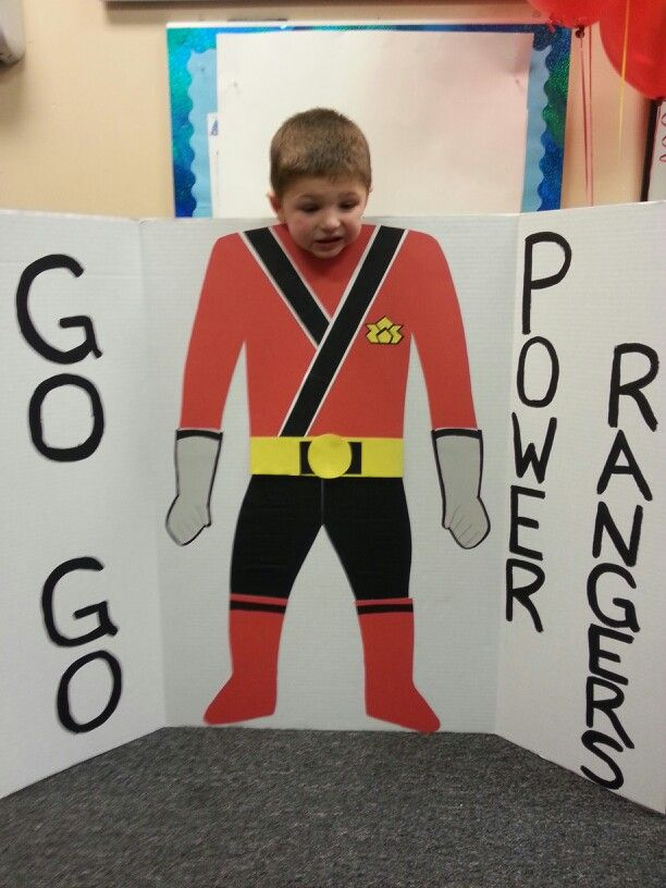 Power ranger birthday party (cardboard cutout)