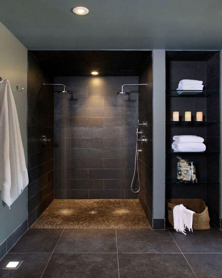 salle de bain avec douche italienne ambiance zen avantages inconvenients conseils pratiques modèles différents douches #bathroom
