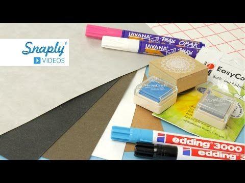 SnapPap färben, bestempeln, bemalen & bedrucken | Snaply.de - YouTube