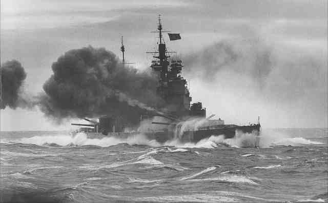 HMS Duke of York, victor over the Scharnhorst in December 1943.
