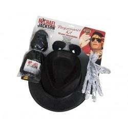 RUBIE'S Kit Michael Jackson que incluye una peluca, un par de gafas, un sombrero y un guante - UKA Digital