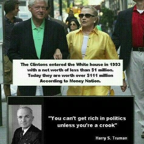 One of our greatest president's. President Truman spoke these truths. Something the Clinton's will never do.
