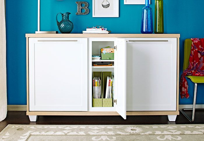 How to make a sideboard from stock cabinets woodworking for Stock cabinets