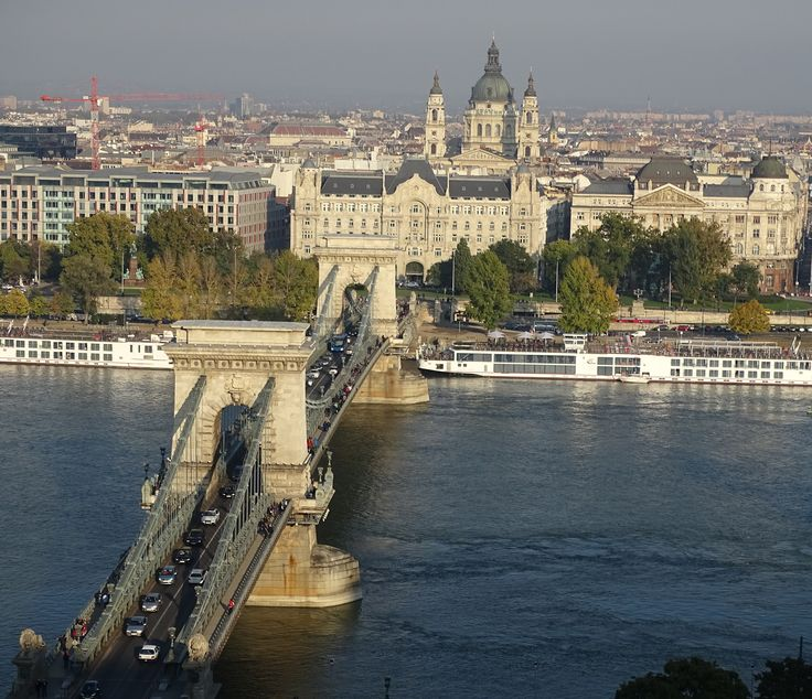Budapest Chain Bridge on the skyline