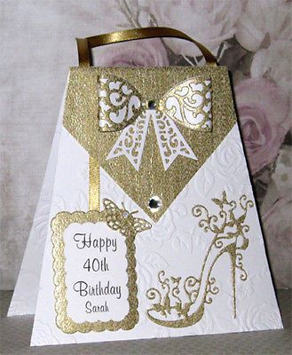 #Handmade #personalised 40th #birthday card / 18th / 21st / 30th / 50th / 60th et,  View more on the LINK: 	http://www.zeppy.io/product/gb/2/172018754781/