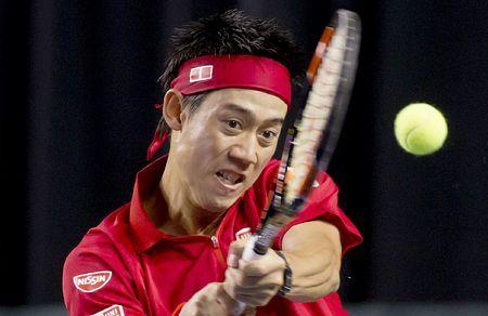 バセク・ポスピシル戦で強烈なリターンショットを放つ錦織=6日、バンクーバー(EPA=時事) ▼7Mar2015時事通信 これが日本のエース=錦織、実力通り快勝-デ杯テニス http://www.jiji.com/jc/zc?k=201503/2015030700171 #錦織圭 #Kei_Nishikori