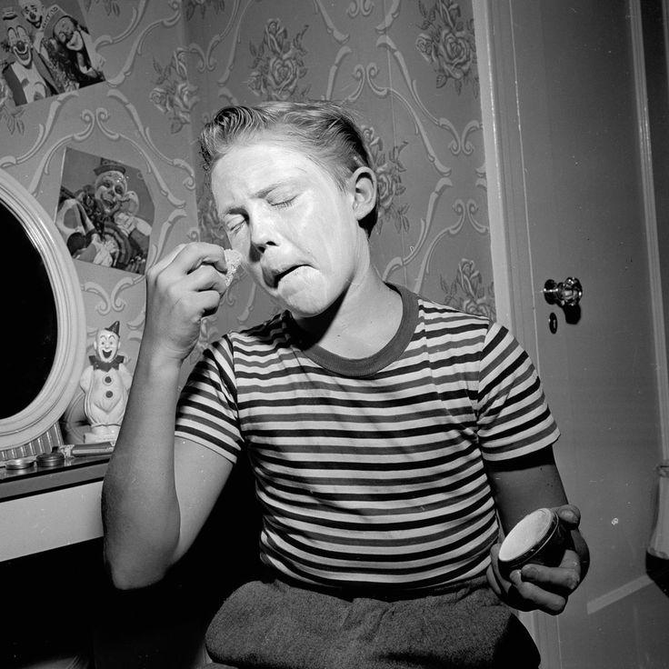 Christopher Walken. As a child. Dressed like a clown.