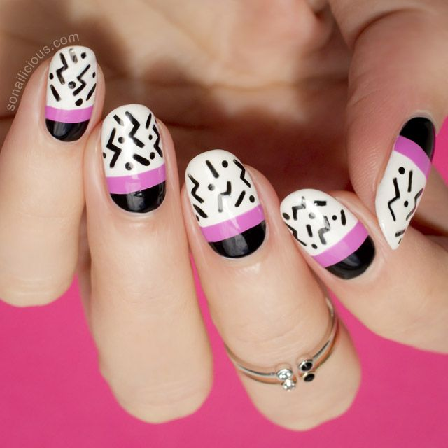 Pop Art Nails for summer. How-to: http://sonailicious.com/pop-art-nails-sydney-beijing/