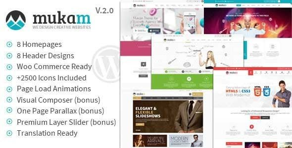 Mukam Limitless Multipurpose Responsive Theme is a Wordpress Theme, Fully Responsive with 8 Different Headers. so download it and enjoy it.