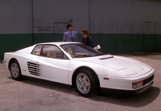 Ferrari Testarossa, a good replacement for the Ferrari Daytona in Miami Vice. This car is iconic for 80s and 90s. Hell, everybody wants one... work of art.