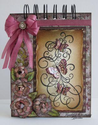 Heartfelt Creations | Butterfly Swirls Mauve Notebook