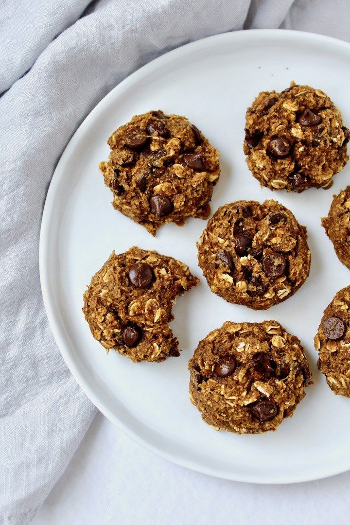 Healthy Pumpkin Oatmeal Chocolate Chip Cookies Vegan Oil Free Refined Sugar Free Nuts About Greens Recipe In 2020 Honey Oatmeal Cookies Pumpkin Oatmeal Chocolate Chip Cookies Pumpkin Oatmeal Cookies