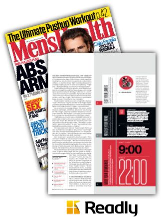 Suggestion about Men's Health September 2015 page 86