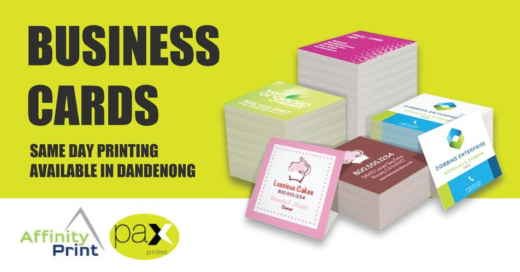 Same day business cards printing service in Dandenong. We use thick premium quality stock. Full Colour Printing, Gloss & Matte finish and any custom size. #BusinessCards