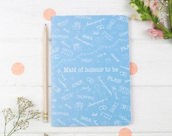 Maid of Honour Notebook – Maid of Honor Planner – Wedding Planning Notebook – Maid Of Honor Gift – Maid of Honour Gift