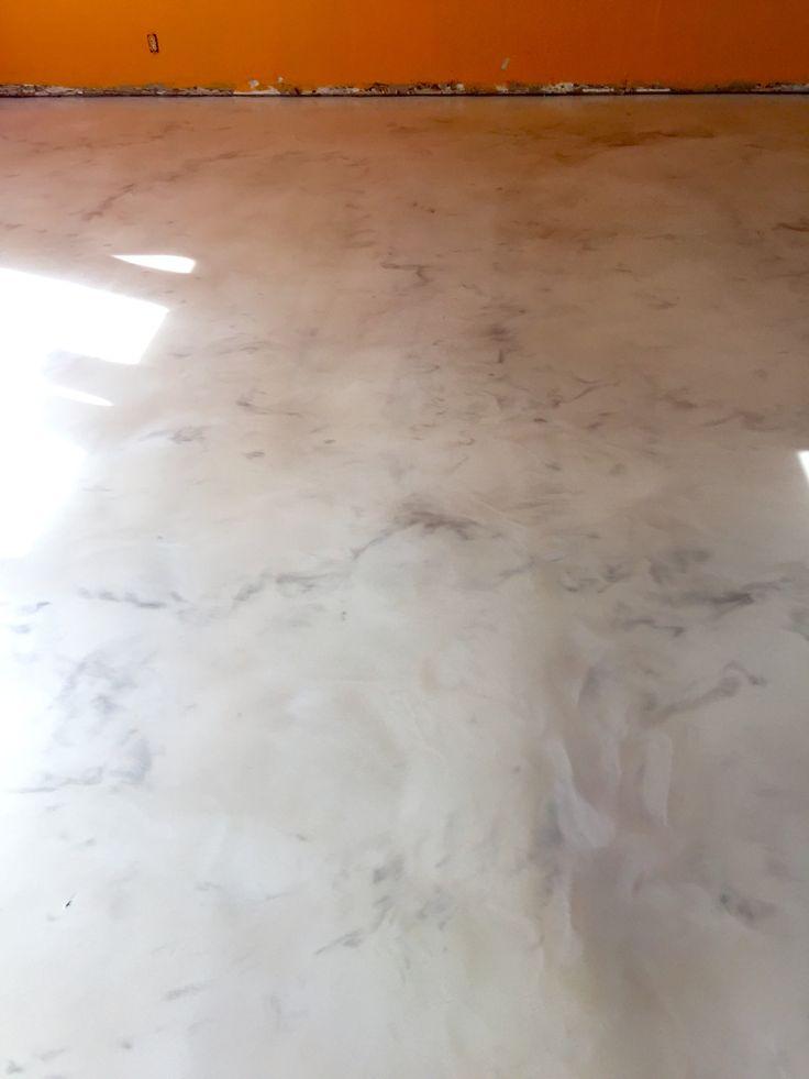Metallic Epoxy Floor Coating For A Korean Restaurant By Sierra Concrete Arts