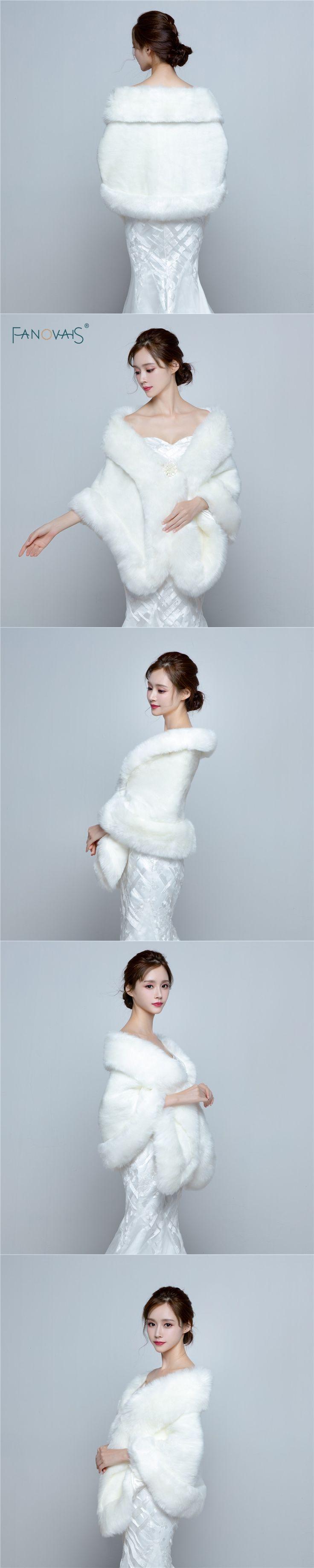 2016 Wedding Bolero Jacket Womens Faux Fur Coat Ivory Winter Jackets Bridal Coats And Wraps Shawl For Brides PBJ19